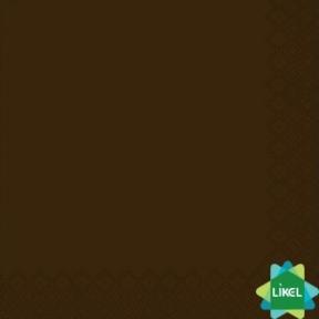 Салфетка  33х33см двухслойная коричневая 50 шт