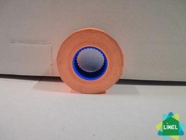 Етикетки-цінники 21х12 мм Economix, 1000 шт/рул., помаранчеві ( 10 шт. пач.)
