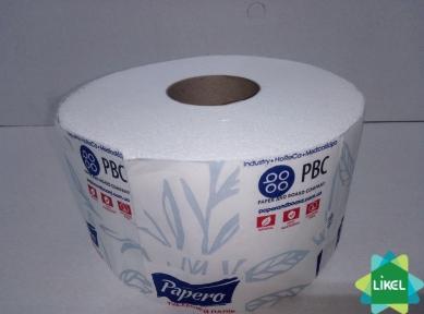 Туалетная  бумага  Jambo Papero 2-х. слойная целюлозная (12шт/пак) (TJ033)