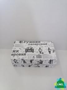 Полотенца бумажные V-сложения серые, Альбатрос (25 пак/ящ)