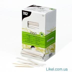 Зубочистки 1000 шт. инд. в бумаге