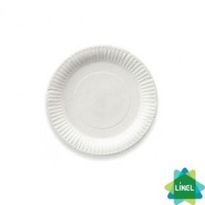 Тарелка бумажная круглая белая d=17см 175шт.