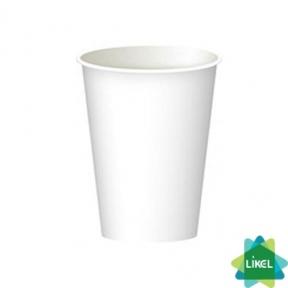 Стакан бумажный белый 250мл 50шт. (крышка №75)