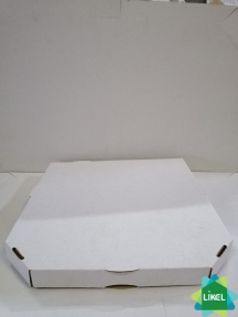 Коробка для піци d=30см 300х300х37 біла