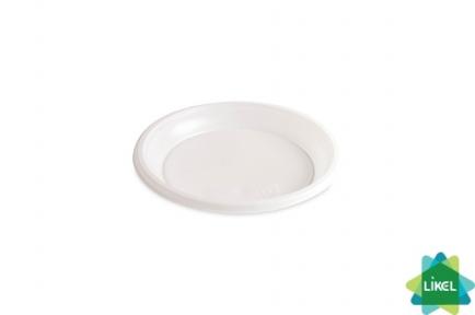 Тарелка 16,5см белая десертная 100шт