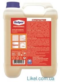 Средство для чистки всех видов сантехнических поверхностей HELPER Professional СУПЕРАКТИВ 5л