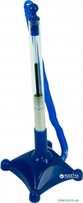 Ручка шариковая на подставке ECONOMIX  POST PEN 0.5 мм корпус бело-синий, пишет синим