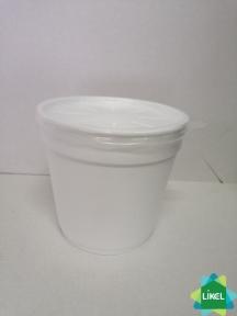 Ємність супова біла 680 мл  (25 шт.) (20 уп/ящ)