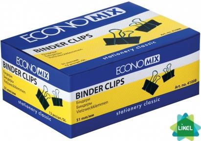 Биндеры для бумаги Economix 51 мм (12 шт. пач.)