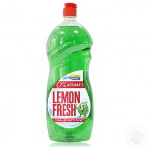 Жидкость для мытья посуды Fresh Lemon 1,5л зеленый