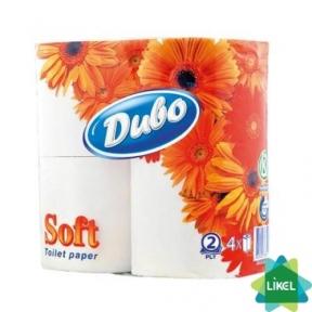 Туалетная бумага Диво Софт цел. 4шт