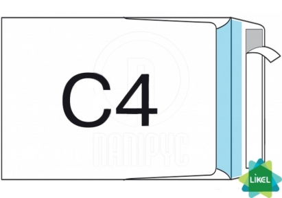 Конверт СКЛ формат C4 100 штук боковой клапан плотность 90г/м2