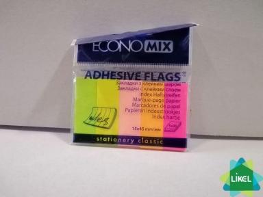 Стикеры-закладки Economix, 15х45, бумажные 150шт