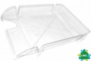 Лоток для бумаги Economix горизонтальный Arnika Компакт прозрачный 365x250x60