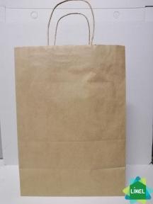Пакет бумажный коричневый 250х150х350 с ручками