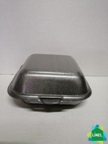 Ланч-бокс черний маленький 150х152х60 мм (250 шт.) НР-6