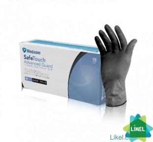 Перчатки одноразовые нитрил чорные S 100 шт. без пудри (ПДВ-7%) Медиком