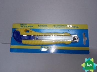 Нож канцелярский 18 мм с резиновыми вставками