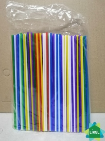 Трубочки Мохито (d=3,0мм) цветные 21 см 500 шт