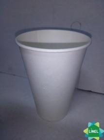 Стакан бумажный белый 340 мл 50шт. (крышка №80)