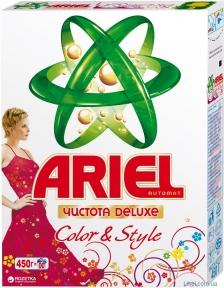 Порошок стиральный  ARIEL авт. Color De Lux 450 г.