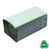 Полотенца бумажные V-сложения зеленые 180 листов