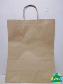Пакет паперовий коричневий 320х160х420 з ручками