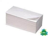Полотенца бумажные МАЛИН белые целюлозные  двухслойные V-сложения (20шт/уп)
