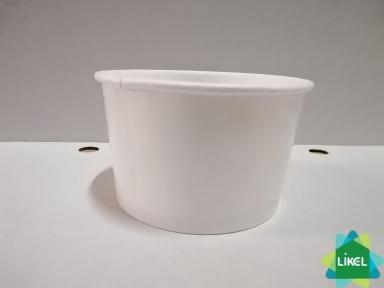 Контейнер паперовий суповий 470 мл білий дно (50/1000)