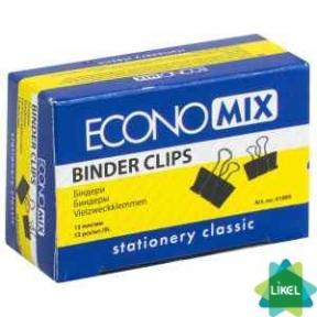 Биндеры для бумаги Economix 15 мм (12 шт. пач.)