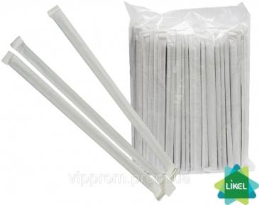 Трубочки гофра в индивидуальной упаковке (d=4,8мм) ассорти 21 см 200 шт