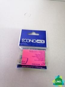 Блок для заметок с клейким слоем 38х50 мм Economix, 100 арк.