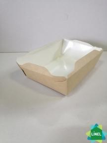 Контейнер для еды с белым дном 500 мл. 165 *120*45 мм. КРАФТ (50/300)