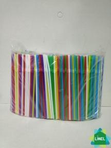 Трубочки Гофра (4,8 мм) асорті 21 см (1000 шт.) ( 12 уп.\ящ)