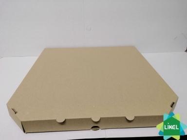 Коробка для пиццы d=40см 400х400х35 бурая