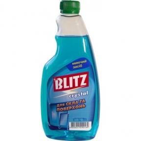 Средство для мытья стекол и зеркал BLITZ crystal 500мл запаска
