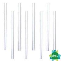 Трубочки Фреш (d=6,8мм) прямые прозрачные 21 см 500 шт