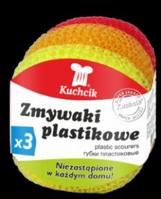 Мочалки пластиковые KUCHCIK 3шт