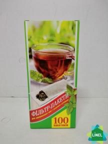 Фільтр пакет для чаю великий XXL  (100 шт. уп.)
