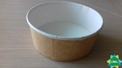 Контейнер бумажный для салата 550мл. КРАФТ (50/400)