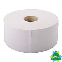 Туалетная бумага Малин Jambo-Luxe белая 100м