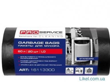 Пакеты для мусора 60 л/20 шт. чорные PRO