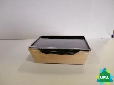 Контейнер для еды  с черним дном 500 мл. 165*120*45 мм. КРАФТ (50/300)