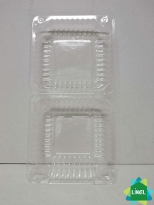 Ланч-бокс прозрачный 9-1 (500 мл) -118 * 118 * 53 мм с крышкой (1200 шт.)