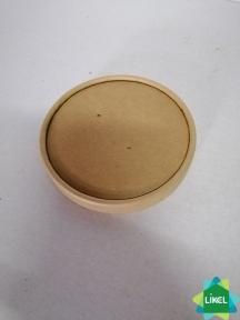 Кришка для контейнера папер.салату 550мл. КРАФТ (РАР 550 lid) (50/800)
