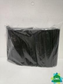 Трубочки Мартинки (d=4,8мм) прямые черные 12,5 см 200 шт.