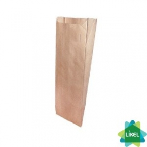 Пакет бумажный коричневый 9x5x31cм 1000шт