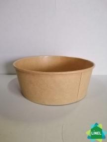 Контейнер паперовий для салату 750мл. дно КРАФТ (50/300)