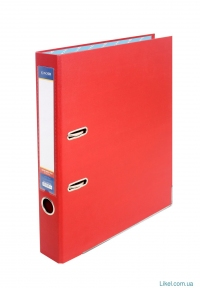 Папка-регистратор А4 LUX Economix, 70 мм, красная