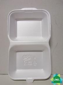 Ланч-бокс белый средний 185x155x70мм 250 шт